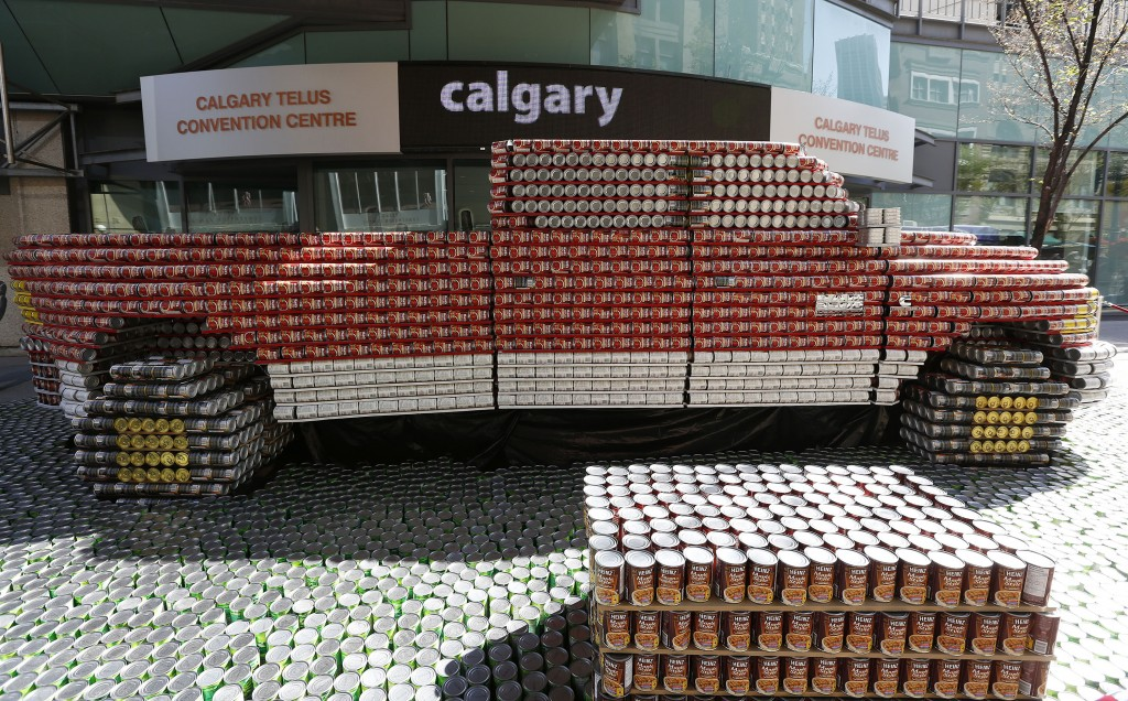 turn cow town into can town during 2014 calgary stampede