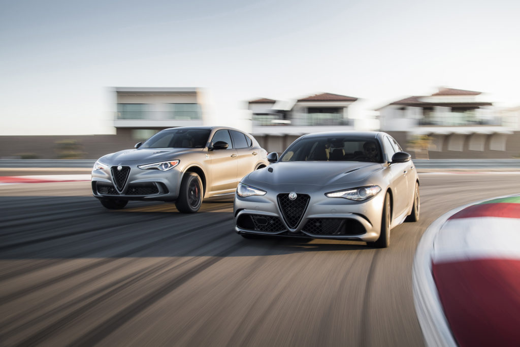 2019 Alfa Romeo Stelvio (Left) and Giulia (Right) Quadrifoglio NRING